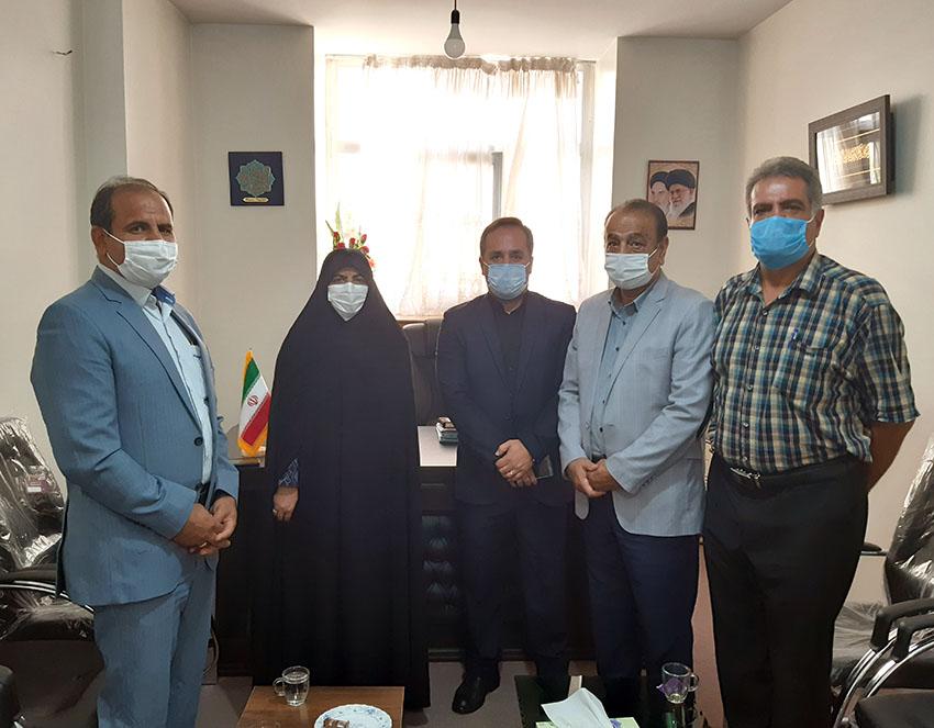 دیدار رئیس و اعضای هیئت رئیسه انجمن خبرنگاران، نویسندگان و عکاسان ورزشی استان با دکتر صالحی