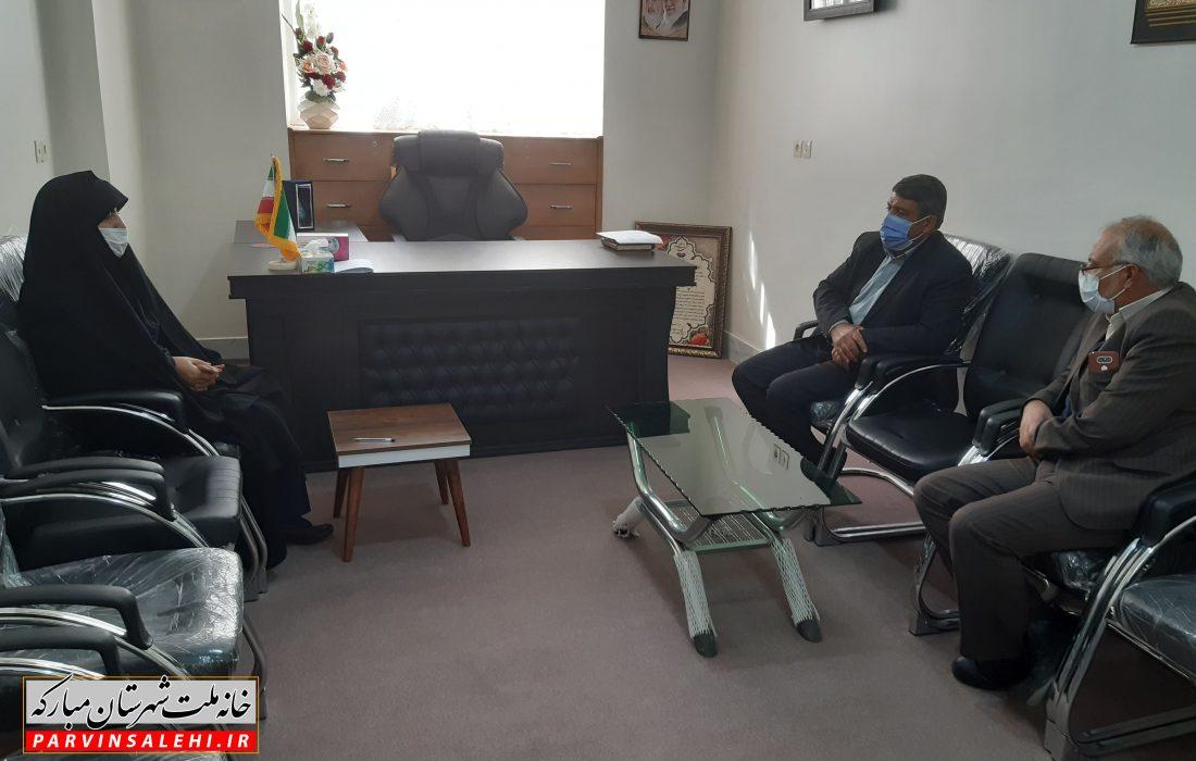 جلسه بررسی مشکلات مرکز توانبخشی شهدا در شهر دیزیچه