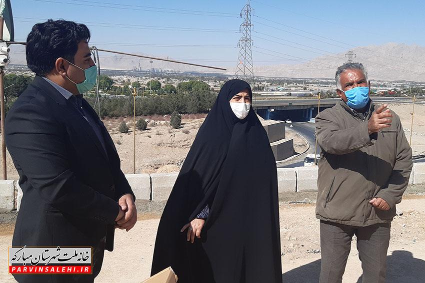 بازدید دکتر صالحی از روند ساخت هتل کوهستان شهر مبارکه