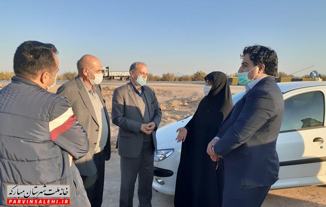 بازدید دکتر صالحی از روند اجرای پروژه جاده مبارکه – بروجن