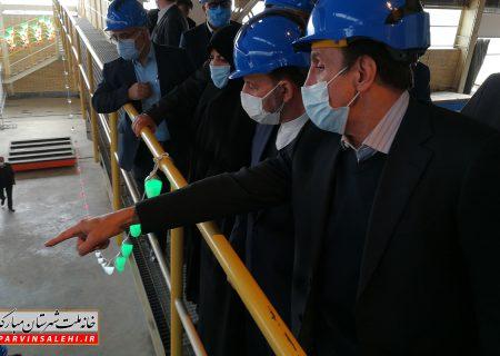 بهرهبرداری از پروژه جدید شرکت قطور سازان اسپادان با حضور دکتر صالحی و رئیس دفتر رئیس جمهور