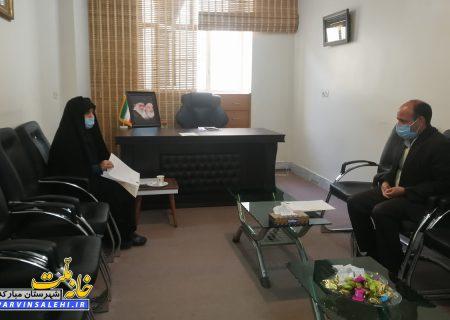 دیدار رئیس کمیته امداد شهرستان مبارکه با دکتر صالحی