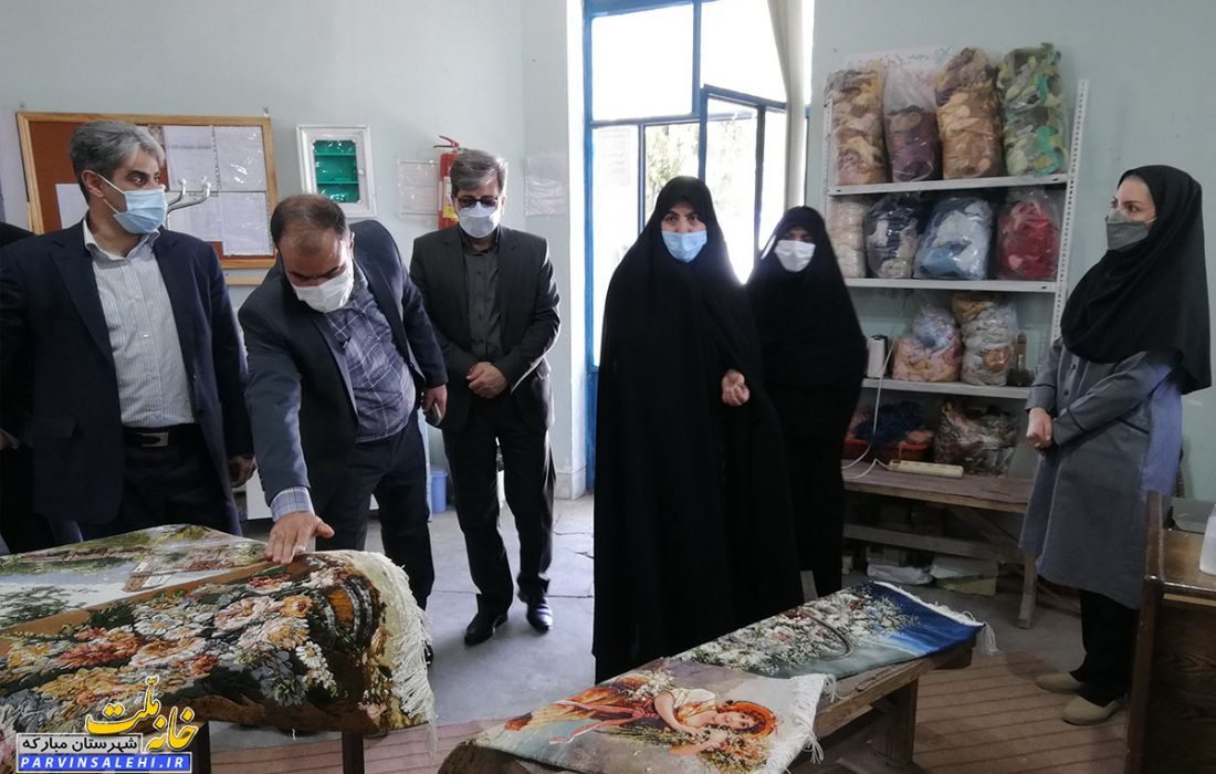 بازدید دکتر صالحی به همراه مدیرکل فنی حرفه ای از مجموعه فنی حرفه ای خواهران مبارکه
