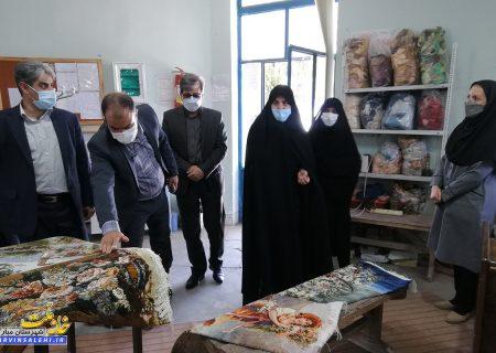 بازدید دکتر صالحی به همراه مدیرکل فنی و حرفه ای از مجموعه فنی و حرفه ای خواهران مبارکه